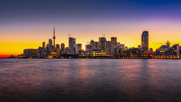 Toronto Skyline at Golden Hour by MichaelBrownPhotography