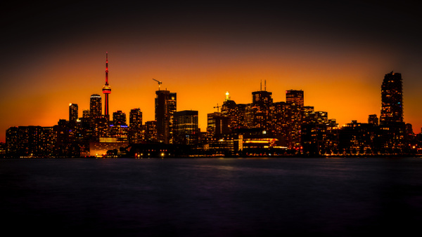 Toronto Skyline at Sunset by MichaelBrownPhotography