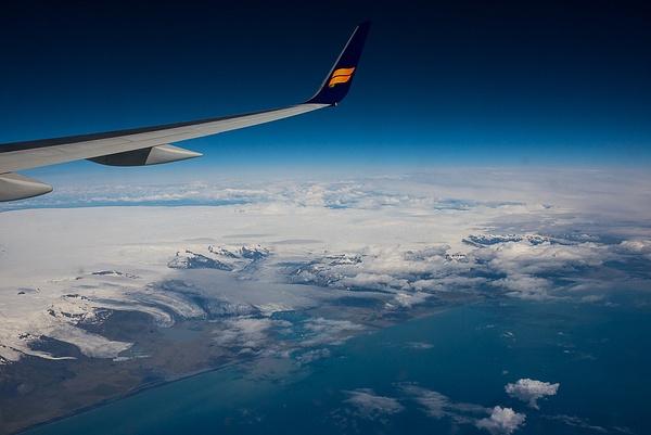 Icelandic airplane view 2014 by Muzzyenn