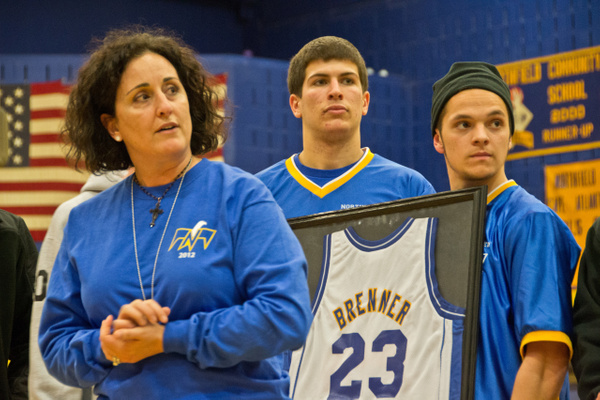 Casey Brenner Jersey Retired by Northfield Community School