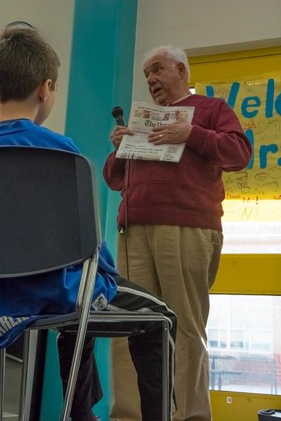 Dick Sheeran Visits NCS Elementary by Northfield Community School
