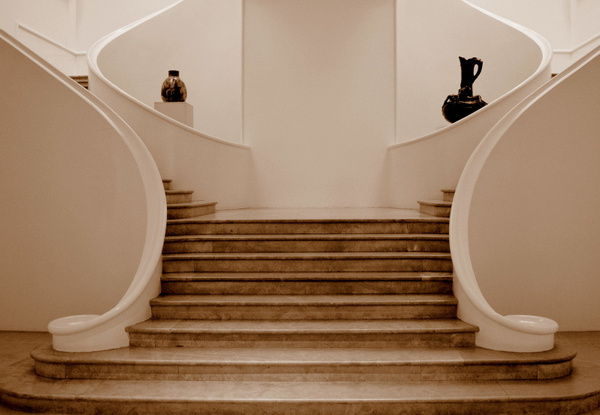 Musee des beaux arts staircase to the collection
