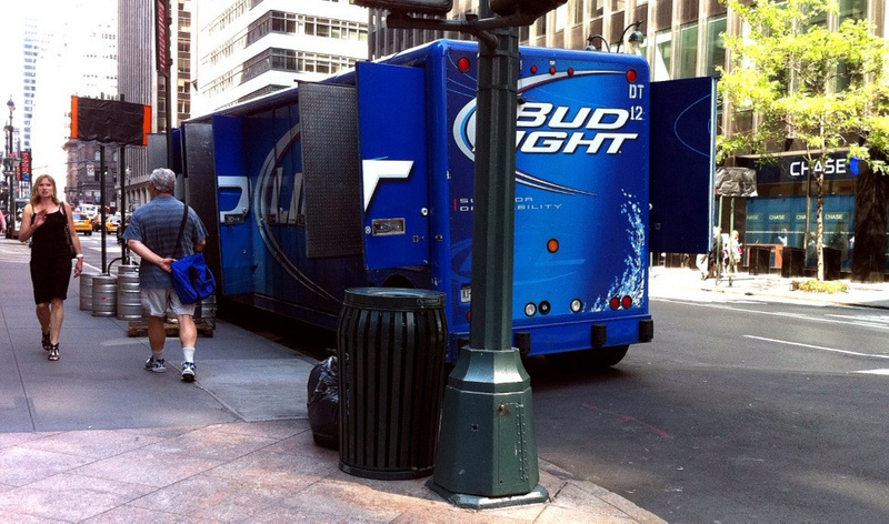Bud Light Truck On NYC