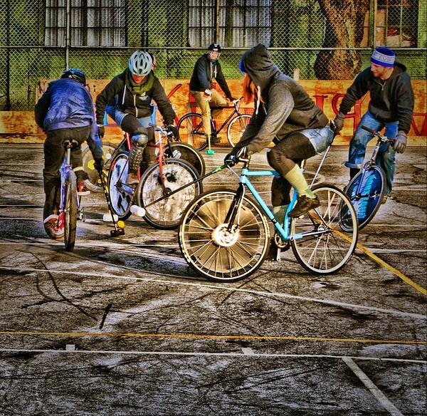 December Bike Polo by Marv Ferg