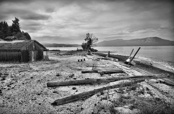 Longhouse Beach, Mill Bay by Marv Ferg