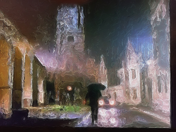 Walk on a Dark and Stormy Night by Marv Ferg