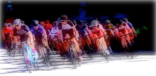 Glo Cyclists by Marv Ferg
