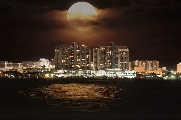moon over Miami Beach