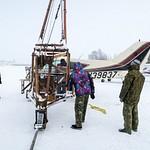 Погрузка самолета Викинг.