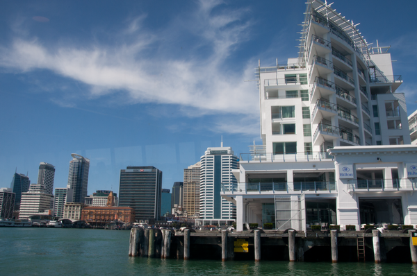 We saw the waterfront from the water side by Willis Chung