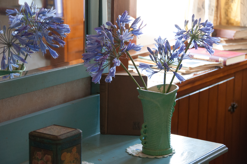 Flowers in the cottage bedroom