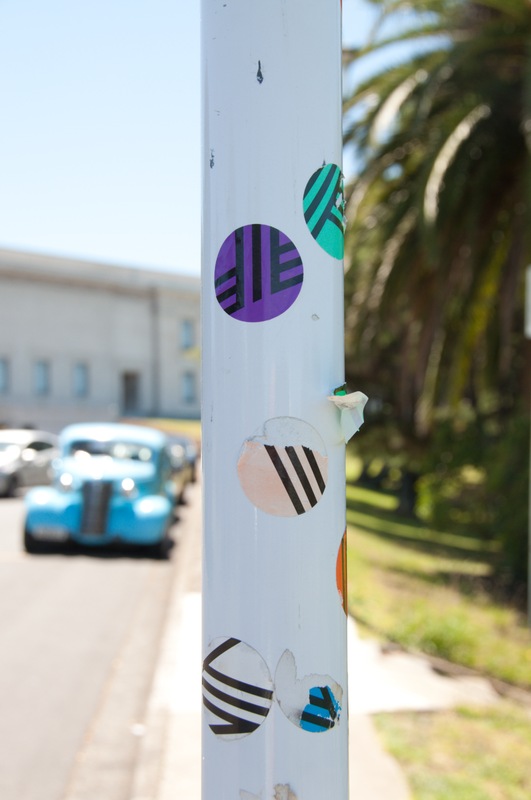 Museum stickers making modern art