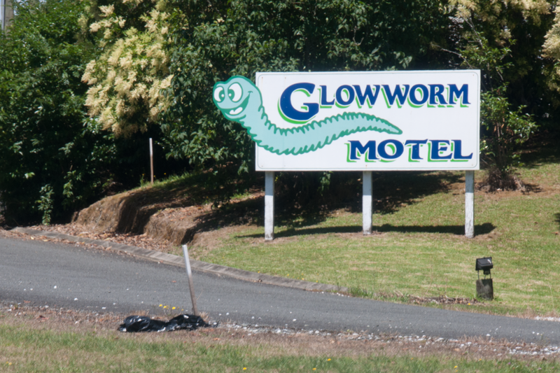There's cheesy advertising everywhere, even in beautiful New Zealand