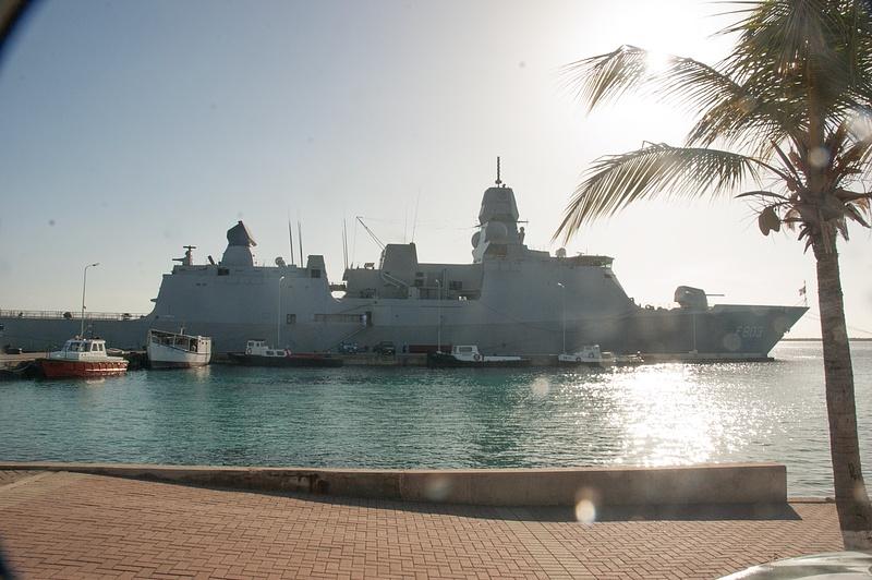 The MNLMS Tromp, a De Zeven Provincien-class frigate