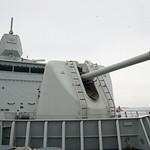 2012Aug Visiting the Tromp, a Dutch frigate, in Bonaire