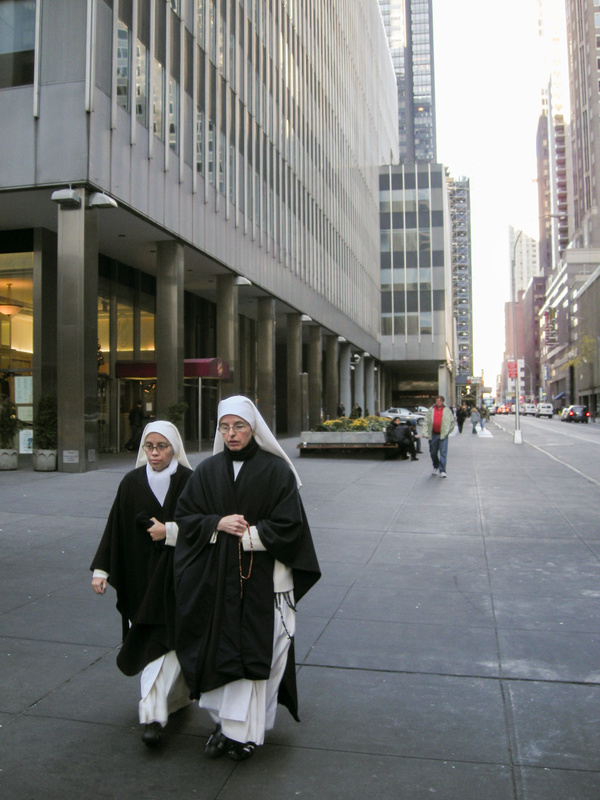 Nuns not on the run, but moving fast