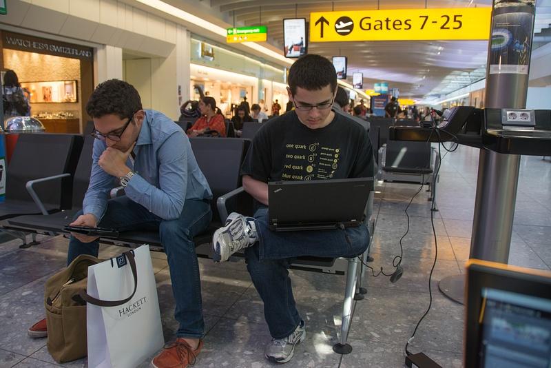 At Heathrow waiting