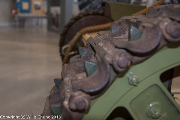 Front track sprocket from a WW I tank by Willis Chung