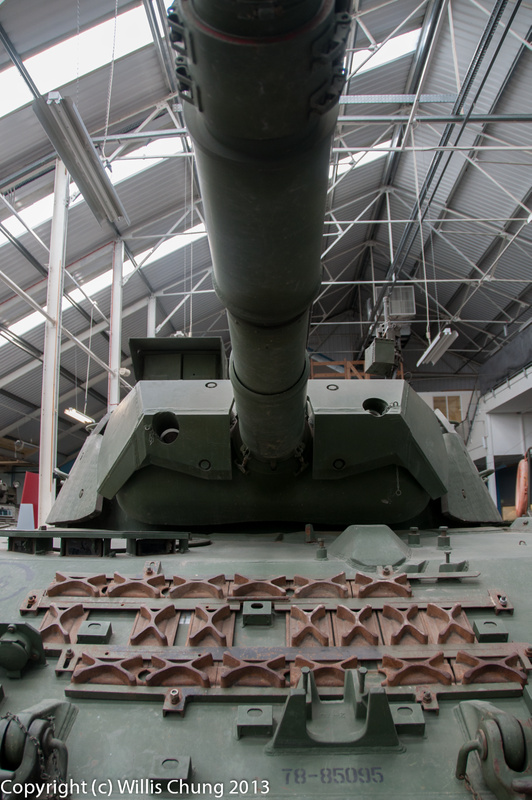 Front view of a Canadian Leopard C2