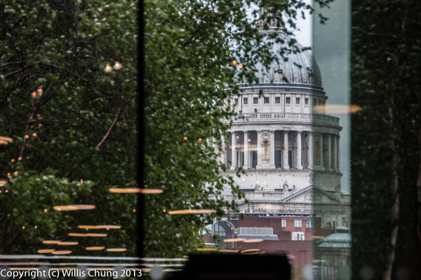 St. Paul's Cathedral from the Tate Modern Cafe by Willis...