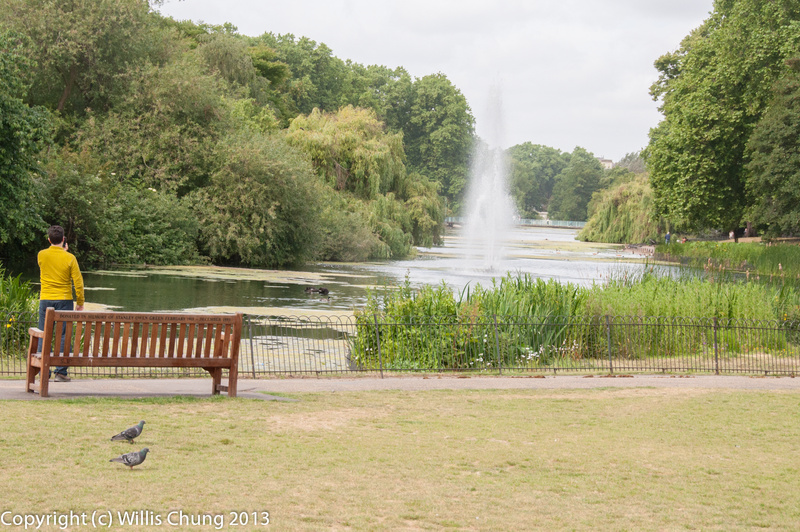 The fountain in the south end of St. James Park