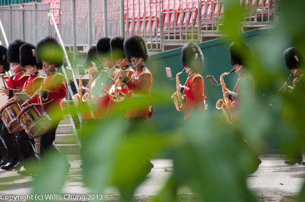 Practice at the Horse Guards Parade grounds by Willis...
