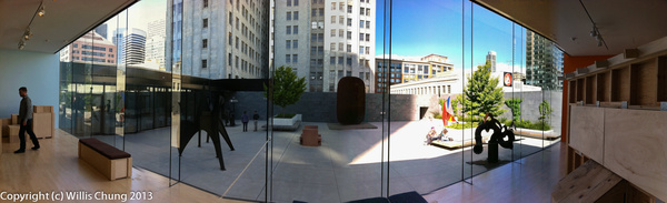 MOMA courtyard view by Willis Chung