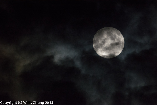 The full moon and a bit of cloud by Willis Chung