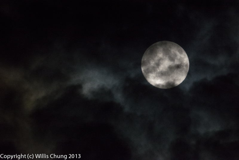 The full moon and a bit of cloud