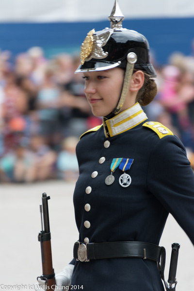 2014July Stockholm Changing of the Guard at Royal Place...