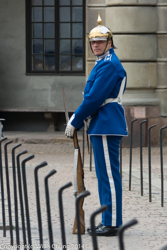 This guard had a tough job trying to keep the parade ground clear of tourists.