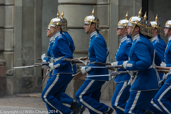 The current guards marching out by Willis Chung