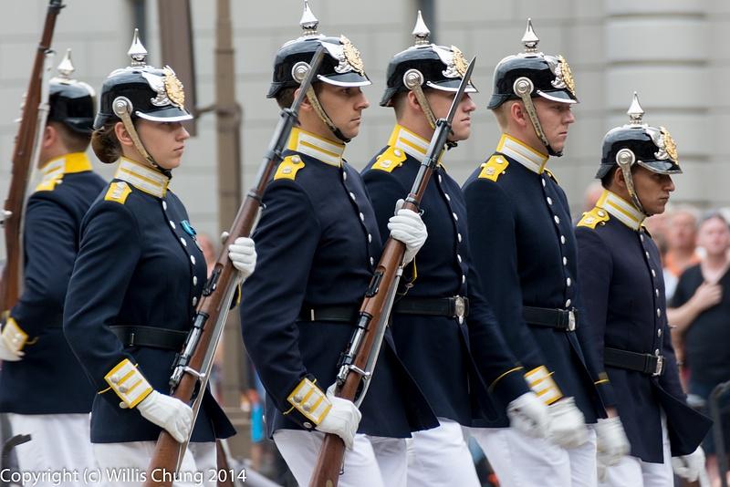 Fresh Guard unit breaks formation