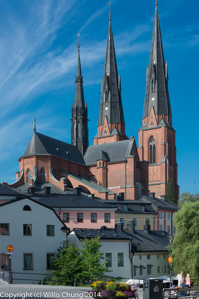 2014July Uppsala Cathedral by Willis Chung