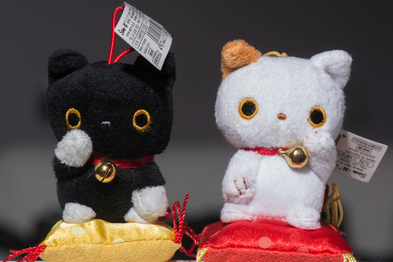 A pair of lucky cats!  Nikkor 105mm Micro
