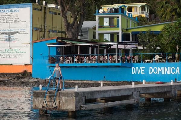 Ela greets us at the dock by Willis Chung