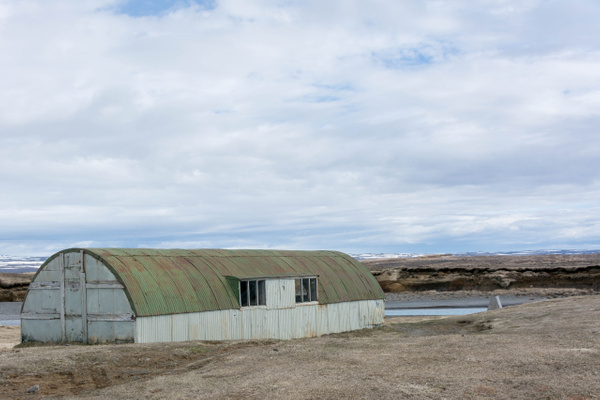 We spotted this little Quonset hut and stopped to...