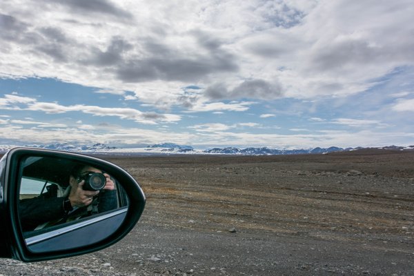Photographer self-portrait, Iceland by Willis Chung