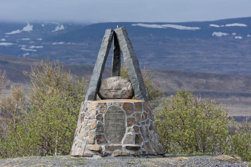 Memorial near the site of the battle of Örlygsstaðir