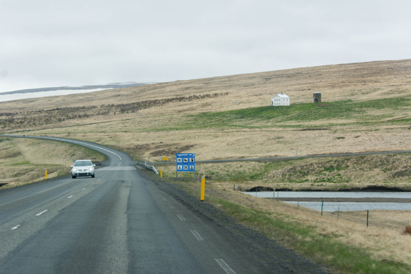 The sign on route 704 to Laugarbakki is new compared to...