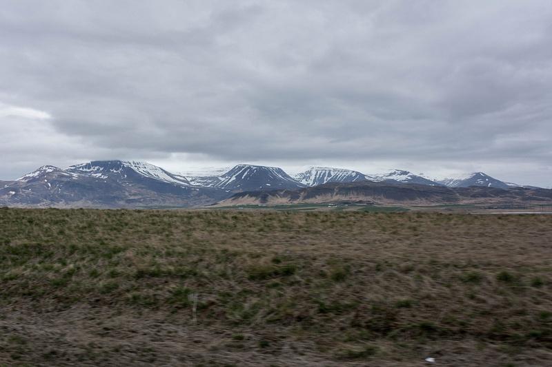 Majestic peaks between Grundartangi and Borganes