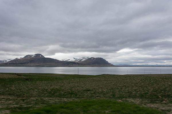 Driving toward the tunnel that goes under Hvalfjörður...