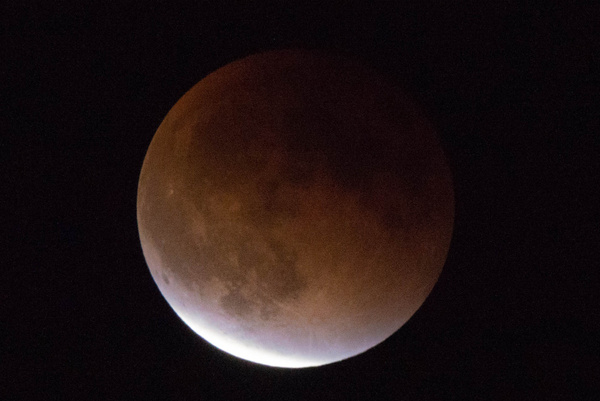 Eclipsed portion of the moon, 2127MDT