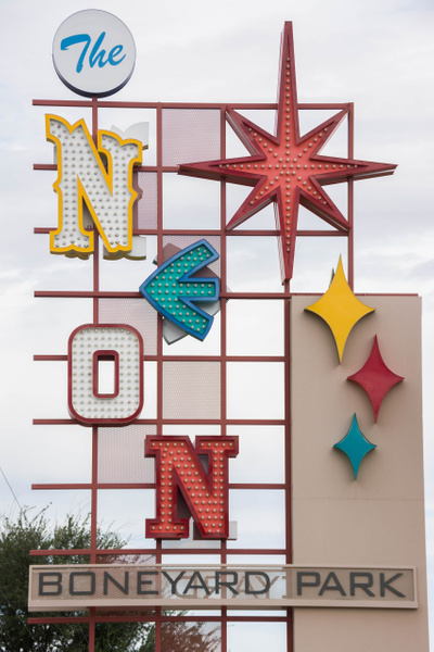 Nice display made of parts of old signs by Willis Chung
