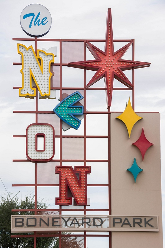 Nice display made of parts of old signs