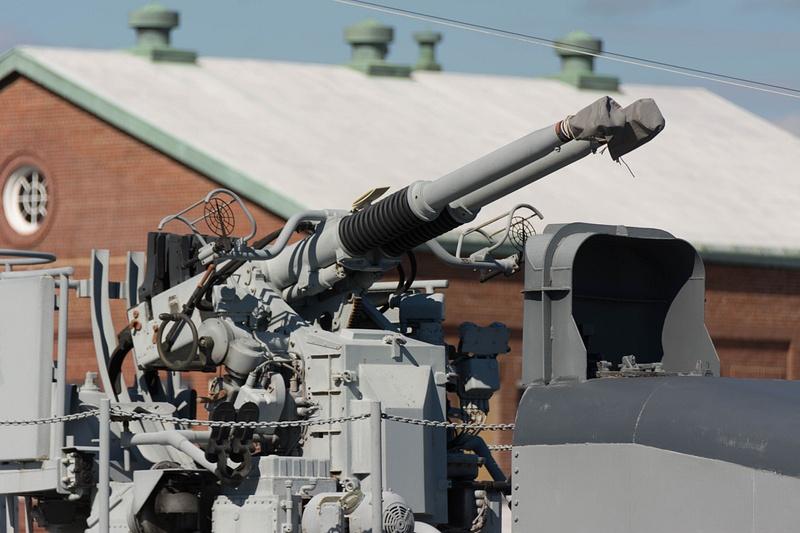 One of the 5 dual 40mm anti-aircraft guns.