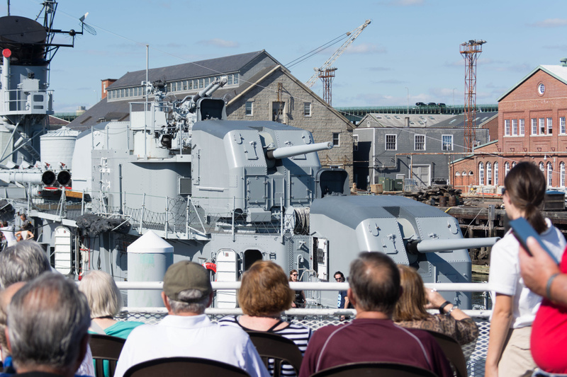 The USS Cassin Young (DD-793), a WW II destroyer available for a tour.