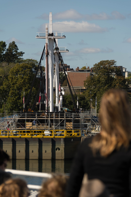 USS Constitution in dry dock for a while
