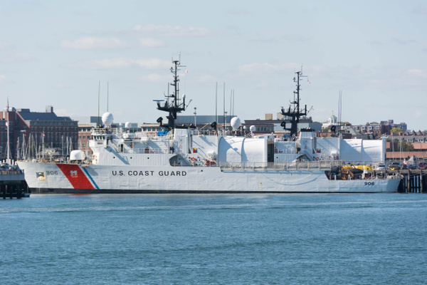 US Coast Guard Base Boston has two cutters in.  This is...