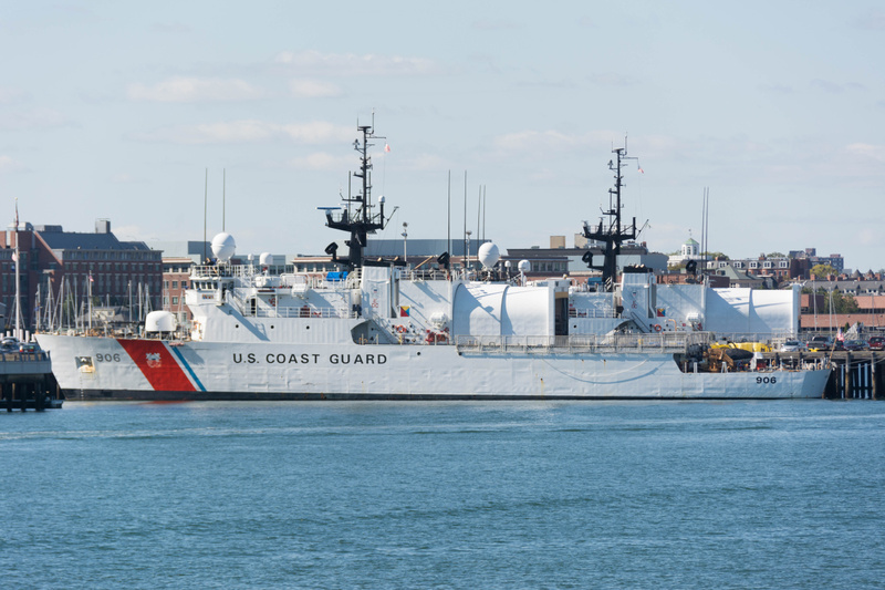 US Coast Guard Base Boston has two cutters in.  This is the USCGC Seneca (WMEC-906)